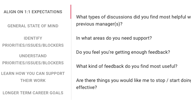 1:1 meeting conversation starter questions are there when you need them