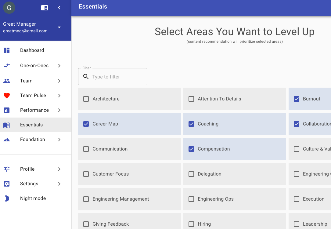 You Can Specify Areas You Want To Learn More About